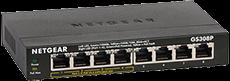 Netgear GS308P 8-Port Gigabit Ethernet LAN PoE Switch