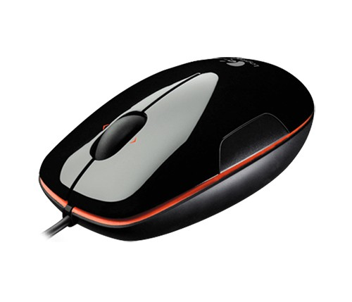 Logitech Mouse M150, schwarz-orange