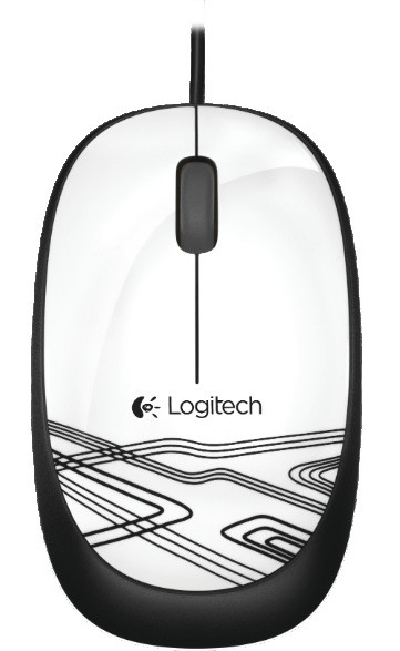 Logitech Corded Optical Mouse M105, weiß