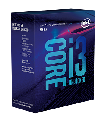 CPU Intel Core i3 8350K 4,0GHz