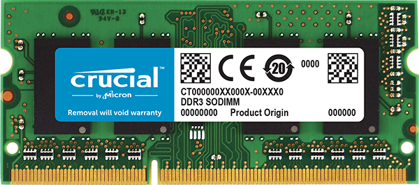 RAM SO-DIMM DDR3L 8GB/PC1600 /UB/ Crucial / Single