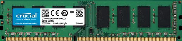 RAM DDR3L 8GB / PC1600 /UB/ Crucial