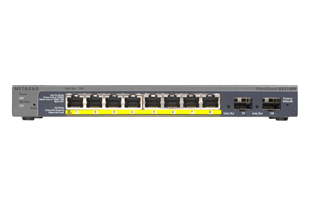 10-Port Gigabit Ethernet PoE Smart Managed Pro Switch