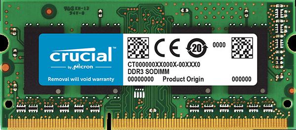 RAM SO-DIMM DDR3L 4GB/PC1600 /UB/ Crucial / Single